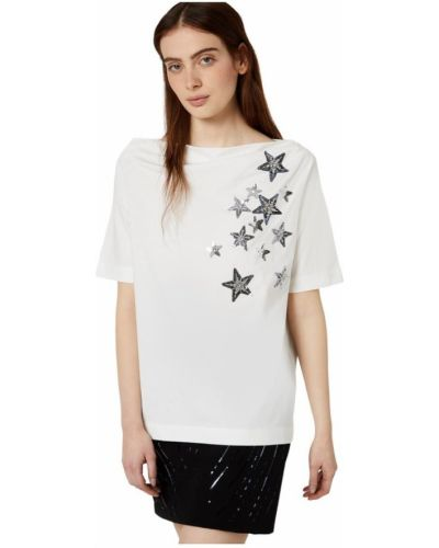 Z gwiazdami t-shirt przeoczenie z haftem Liu Jo
