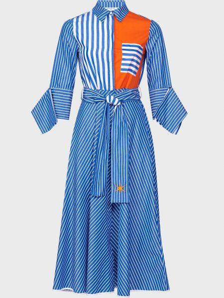 Хлопковое платье с поясом на пуговицах Beatrice.b