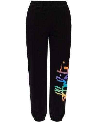 Prążkowane czarne spodnie Off-white
