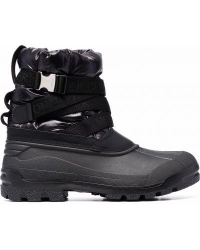 Черные ботинки с круглым носком Moncler