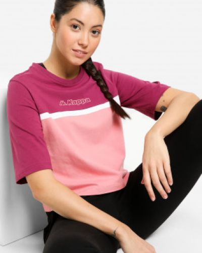 Розовая футболка с короткими рукавами Kappa