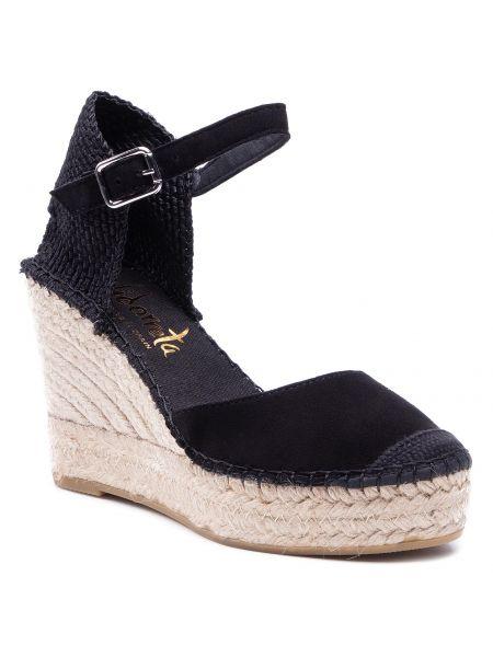 Czarne sandały skorzane Vidorreta