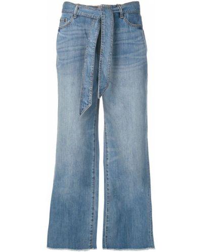 Свободные брюки с поясом синие Armani Exchange