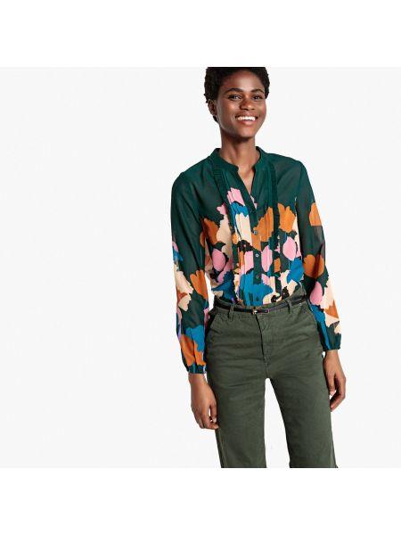 Рубашка с длинным рукавом с воротником-стойкой с цветочным принтом La Redoute Collections