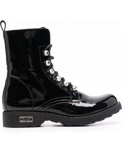 Ботильоны на каблуке - черные Cult