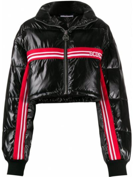 Черная длинная куртка с манжетами Gcds