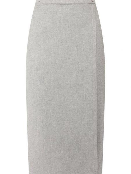 Юбка миди с запахом шелковая Loro Piana