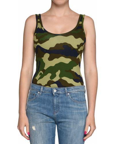 Боди блуза зеленый Kendall + Kylie