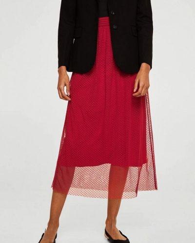 Красная юбка осенняя Mango