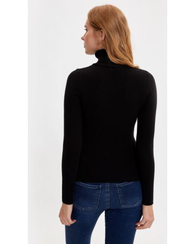 Черный свитер Defacto