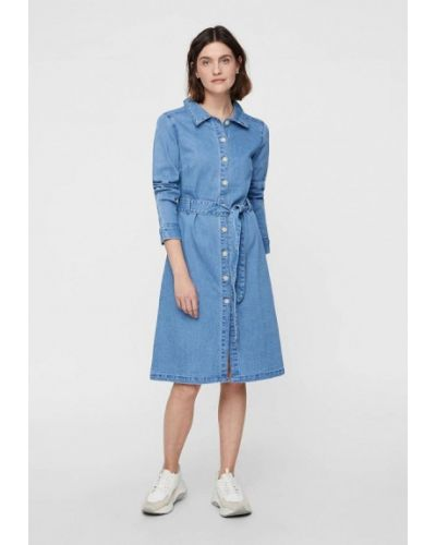 Джинсовое платье весеннее синее Vero Moda
