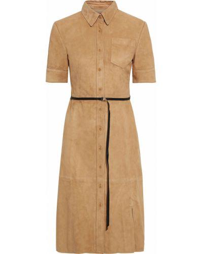 Кожаное платье - желтое Altuzarra