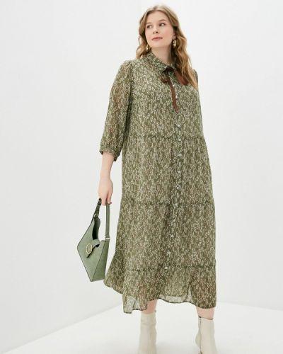 Повседневное зеленое платье Intikoma