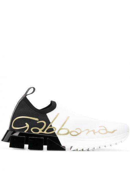 Белые слипоны Dolce & Gabbana