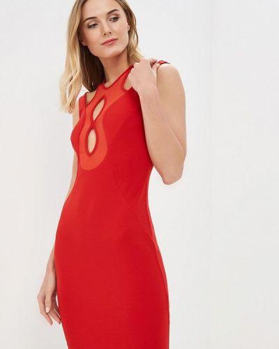 Красное вязаное платье Met