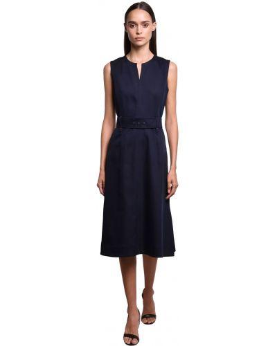 Платье с поясом на пуговицах с разрезами по бокам Sportmax