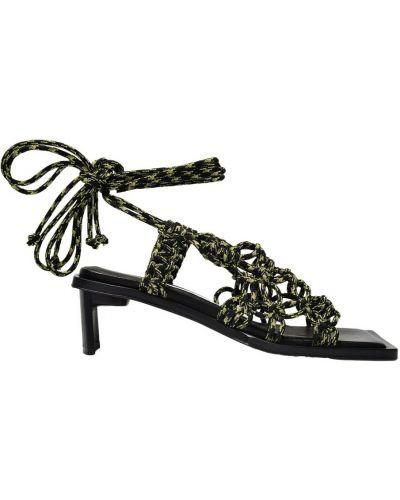 Czarne sandały Miista