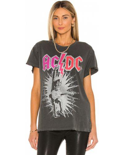 Czarny t-shirt bawełniany z printem Madeworn