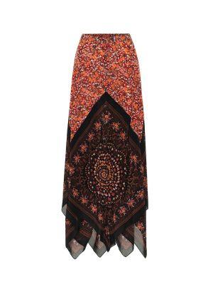 Шелковая ажурная юбка макси Altuzarra