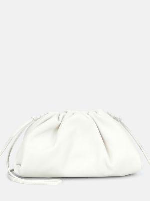 Белая маленькая сумка из натуральной кожи Bottega Veneta