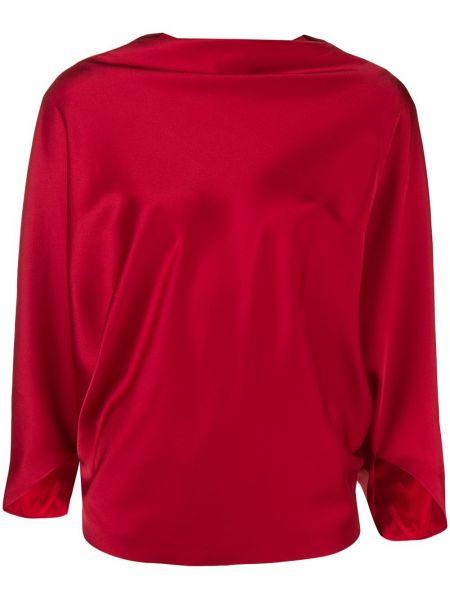 Блузка с вырезом - красная Chalayan