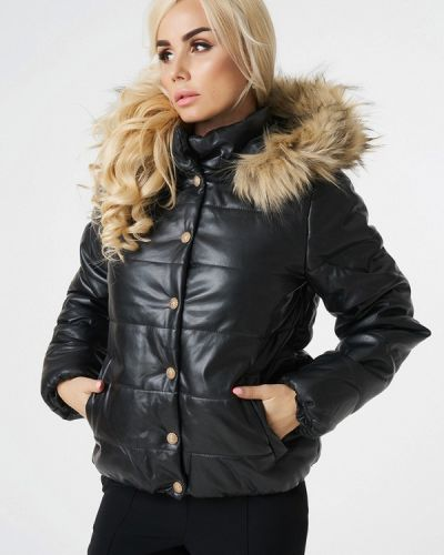 Зимняя куртка утепленная осенняя укороченная Luxlook