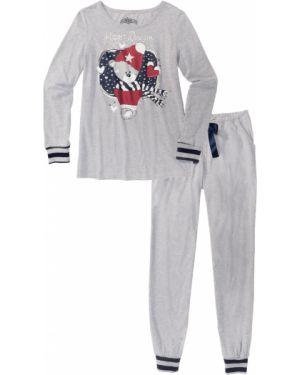 Пижама в полоску пижамный Bonprix