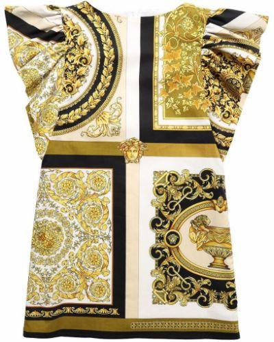 Sukienka bawełniana z printem Versace