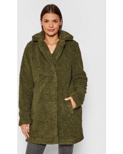 Zielony płaszcz zimowy Noisy May