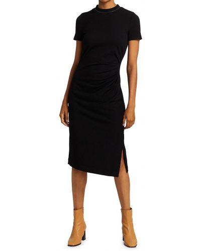 Трикотажное платье миди - черное Brunello Cucinelli