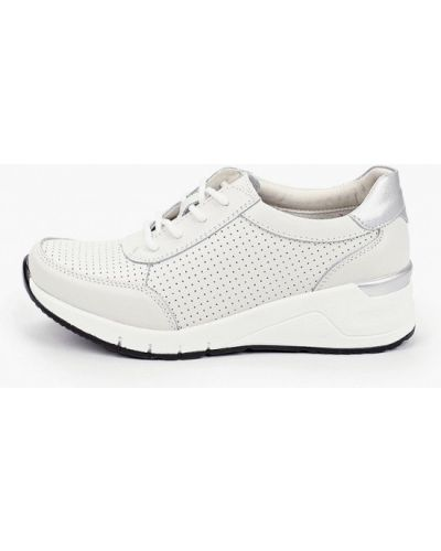 Кожаные белые кроссовки X-plode