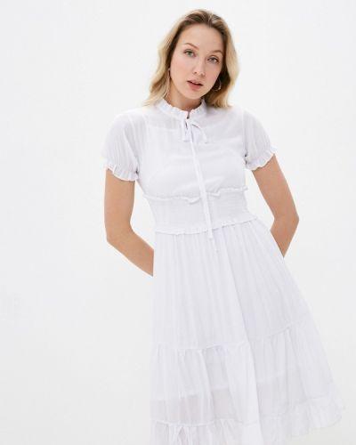 Прямое белое платье А-силуэта Izabella
