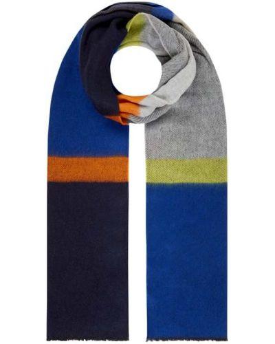 Niebieska szal w kratę bawełniana Montego