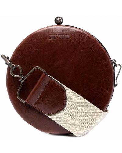 Коричневая сумка круглая Uma Wang
