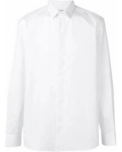 Biała koszula bawełniana z długimi rękawami Saint Laurent