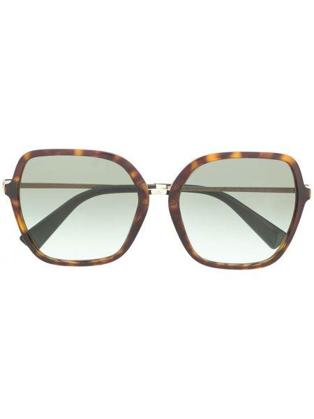 Золотистые черные солнцезащитные очки квадратные с заклепками Valentino Eyewear