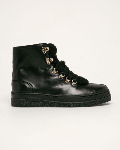 Ботинки на каблуке на шнуровке черные Gant