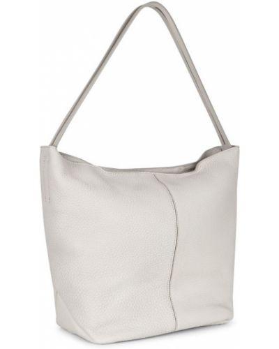 Кожаная сумка серая сумка-хобо Ecco