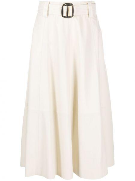 Расклешенная юбка с поясом из вискозы Hilfiger Collection