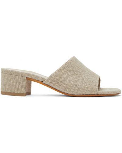 Beżowe sandały skorzane Maryam Nassir Zadeh