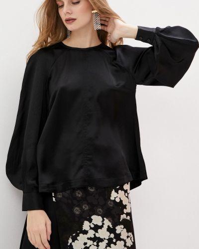 С рукавами черная блузка с длинным рукавом Mcq Alexander Mcqueen