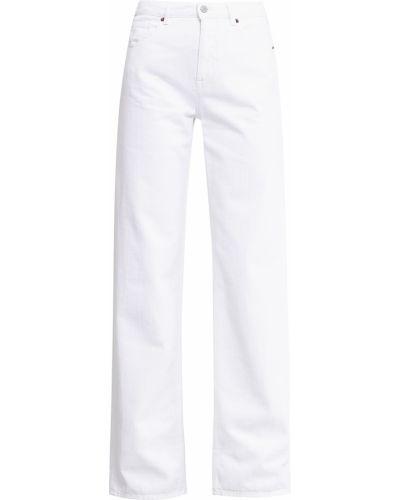 Широкие джинсы свободные белые Mm6 Maison Margiela