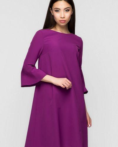 Повседневное платье весеннее фиолетовый A-dress