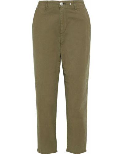 Zielone spodnie bawełniane z paskiem Rag & Bone