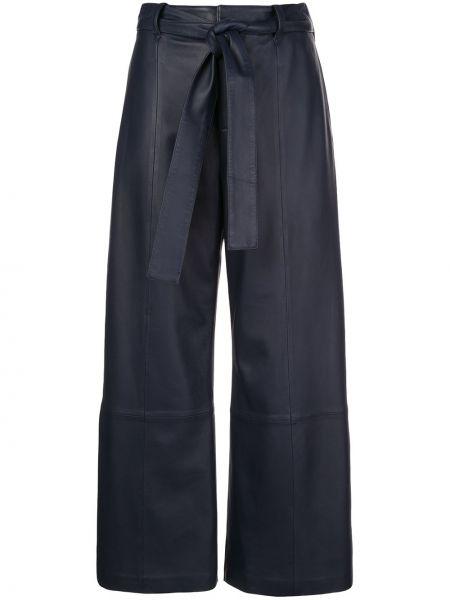 Синие укороченные брюки с карманами свободного кроя с высокой посадкой Jason Wu