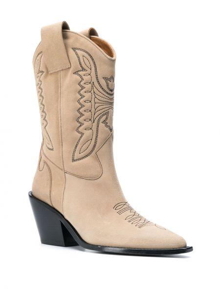 Кожаные ботинки на каблуке на каблуке Zadig&voltaire