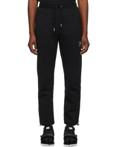 Махровые черные брюки с карманами с манжетами Opening Ceremony