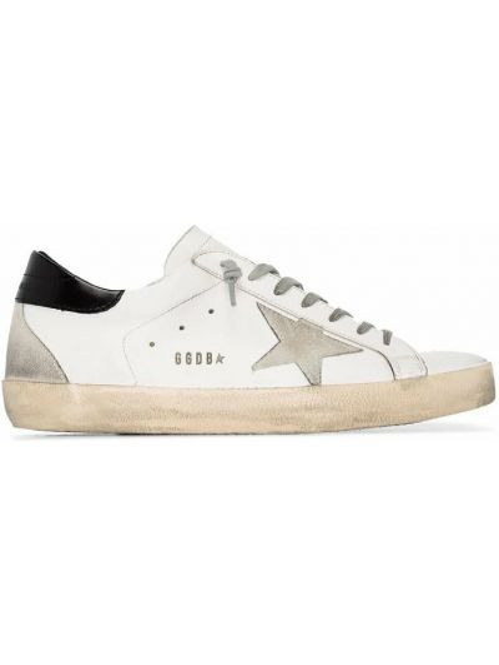 Białe sneakersy na platformie Golden Goose