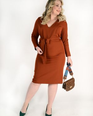 Платье с поясом с V-образным вырезом платье-сарафан Jetty-plus