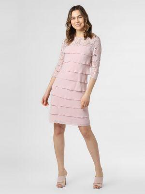 Ażurowa różowa sukienka Ambiance